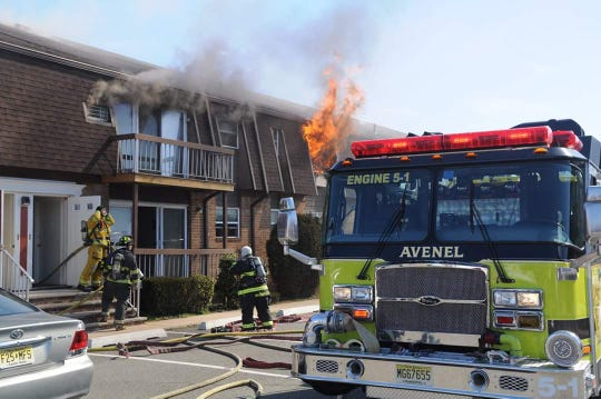 Several tenants have been temporarily displaced by a fire in an Avenel apartment building.