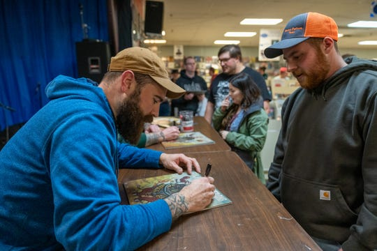 Four Year Strong signed autographs and held a small acoustic performance for fans at Vintage Vinyl in Woodbridge on Feb. 25 at 6 p.m.