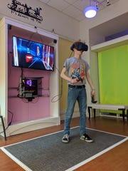Iowa resident at The White Rabbit Virtual Reality Arcade