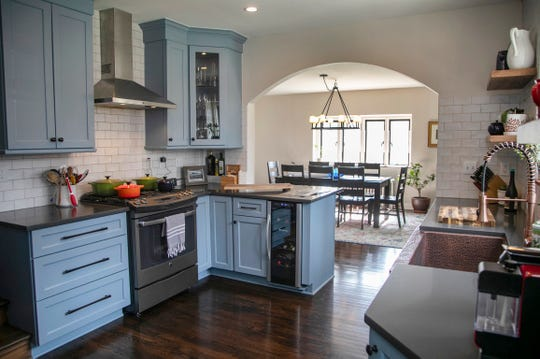 Remodeled kitchen with updated appliances and quartz countertops in this Brick Tudor Cotswald Cottage by Albert Kahn was the servants residence at the great Edsel and Eleanor Ford Estate in Grosse Pointe Shores. The house was photographed Wednesday, March 4, 2020.