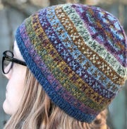 Sheridan created the pattern for this hat to commemorate her shop's 20th anniversary.