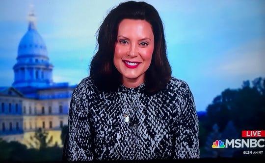 """Gov. Gretchen Whitmer on MSNBC's """"Morning Joe"""" March 5."""