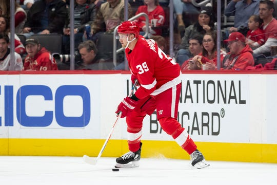 Red Wings forward Anthony Mantha will be a restricted free agent this offseason.