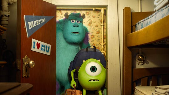 """John Goodman and Billy Crystal voice characters in """"Monsters University."""""""