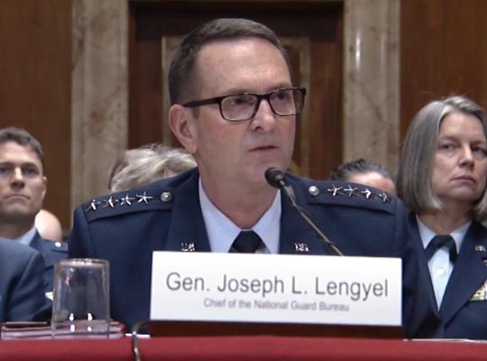 Gen. Joseph L. Lengyel , chief of the National Guard Bureau .