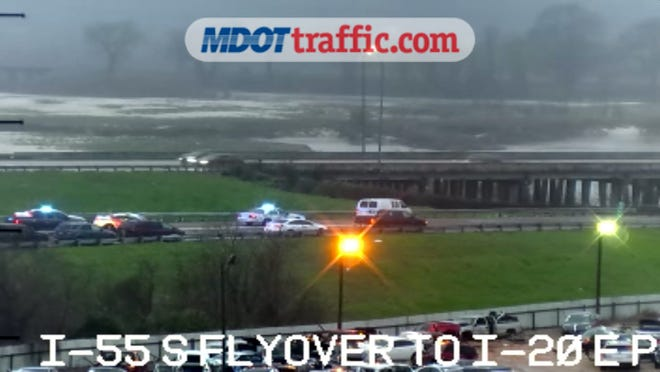 This image from a Mississippi Dept. of Transportation camera shows a fatal crash on I-20 on Thursday, March 5, 2020.