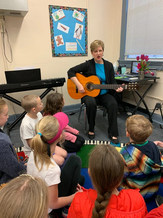 Sequoyah Hills Elementary music teacher Tracy Ward loves all the things that the study of music does for her students. March 2, 2020.
