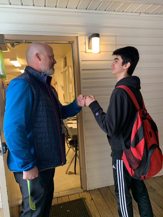 Greeting students every day before class is important to Scott Clark. Feb 2020