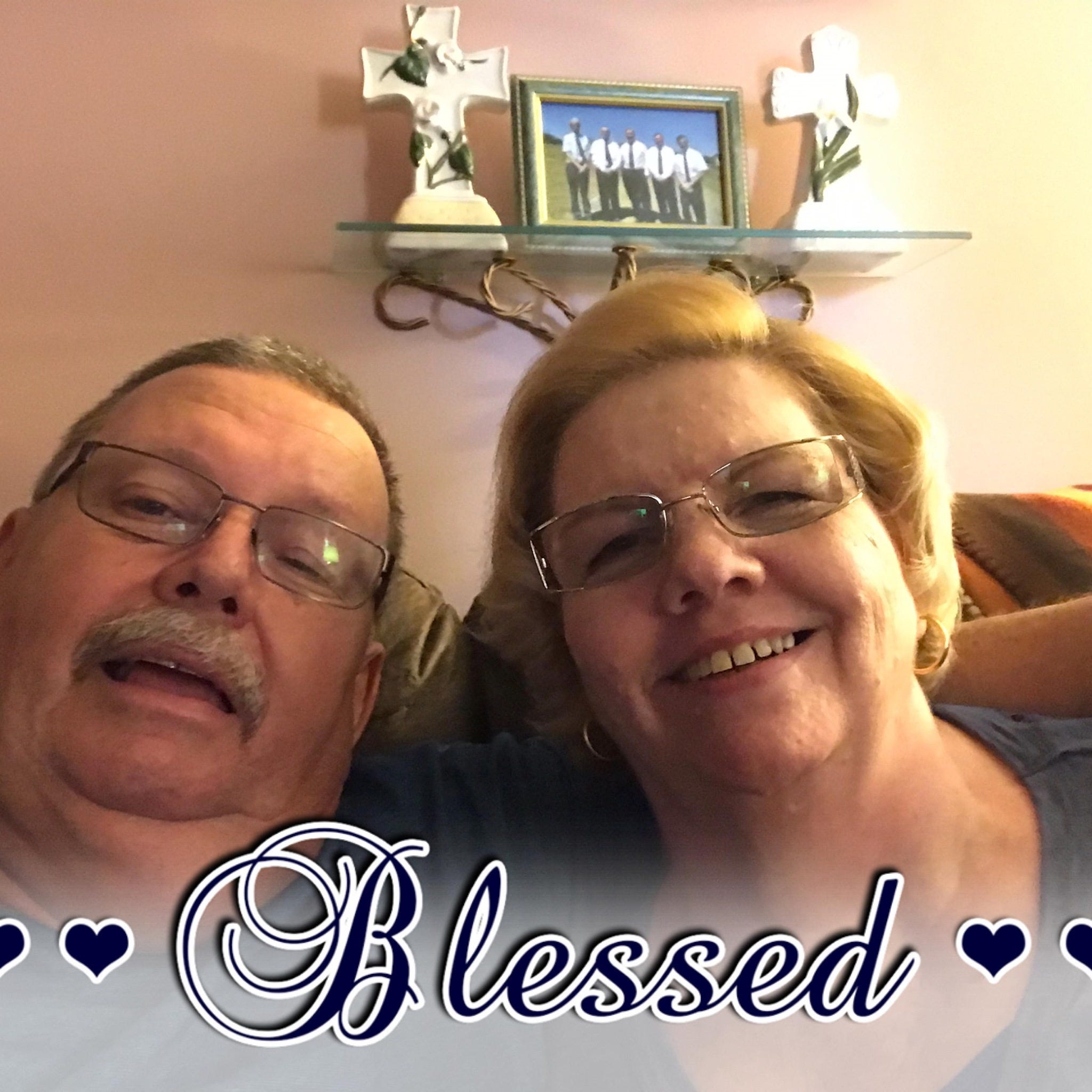 Photo of Keith and Cathy Selby, both in their 60s