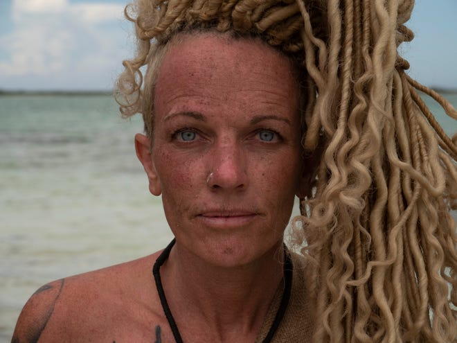 "Lisa Hagan, 48, of Lafayette takes on a 21-day challenge to survive on a string of islands in the Caribbean without provisions or clothing on an episode of ""Naked and Afraid"" that airs at 7 p.m. CT March 22 on the Discovery Channel."