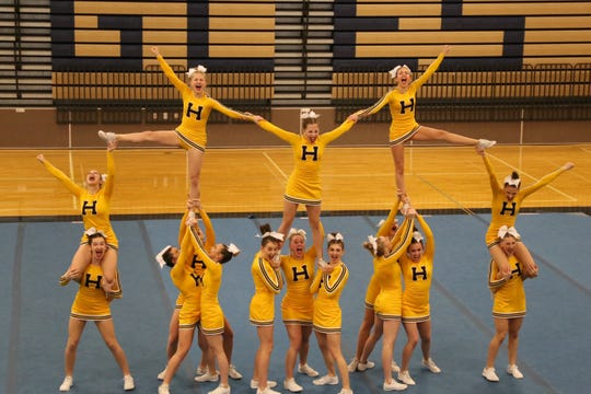 Hartland will compete in the state competitive cheer meet for the second straight year.