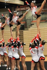 Brighton looks to improve upon a fourth-place finish in last year's state competitive cheer meet.