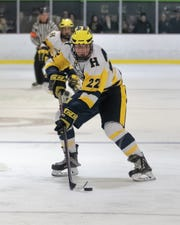 Kieran Carlile scored with 4:56 left in the game, giving Hartland a 3-2 victory over Davison in a Division 2 regional hockey championship game Wednesday at Hartland Sports Center.