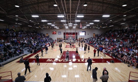 The Henry County High School gym in New Castle, Ky. on Mar. 3, 2020.
