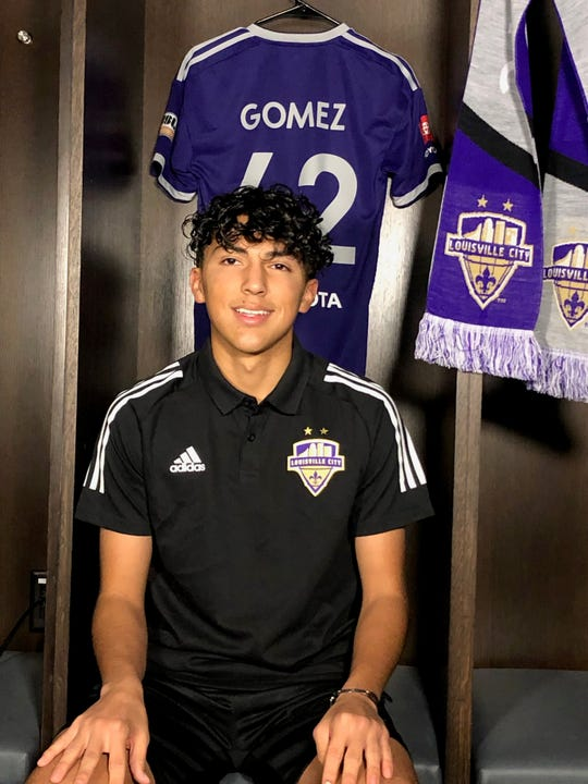 LouCity's newest signee, 16-year old Jonathan Gomez.