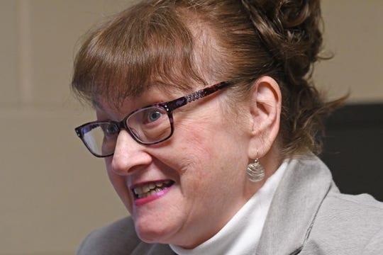 Each Sunday Peggy Clemens Lauritzen helps church members research their genealogy.