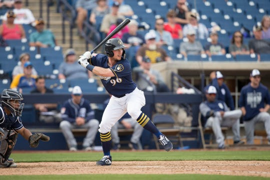 Tristen Lutz was chosen 34th in the 2017 draft out of high school. He has hit .260  with 35 homers in 271 minor-league games.
