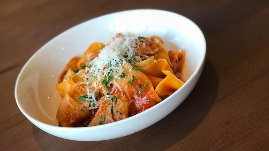 Egg & Flour makes a variety of pasta shapes and styles, including broad pappardelle.