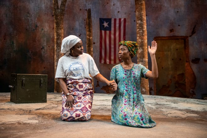 "Nancy Moricette and Jacqueline Nwabueze perform in Milwaukee Repertory Theater's production of ""Eclipsed."" The Rep has made a professional three-camera video of the show available online for safer at home viewing."