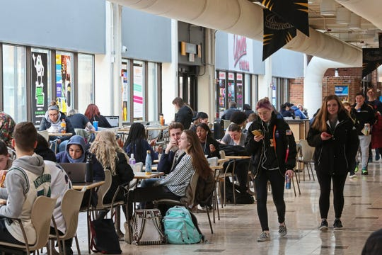 The days of students lounging and eating lunch together in the union at UW-Milwaukee seem like a distant memory. The campus is now largely empty due to the coronavirus outbreak.
