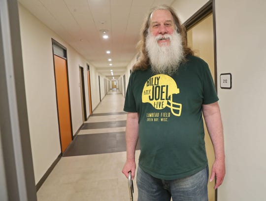 Michael Daniel, 58, is one of the residents at St. Anthony's Place. The former St. Anthony Hospital building in Milwaukee was converted to a 60-unit apartment serving homeless and displaced residents.