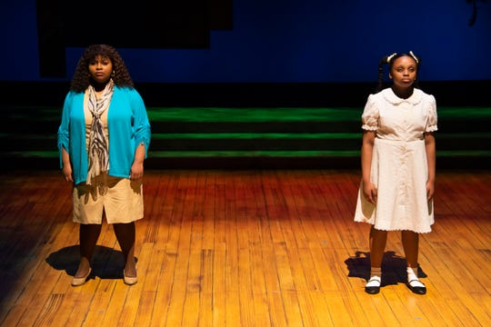 "Faith Gatson, left, and Camryn Dillard are Montgomery Public Schools students who play older and younger versions of Ruby Bridges in ""Ruby: The Story of Ruby Bridges"" at Alabama Shakespeare Festival on March 6-22."