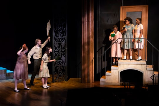 "Protesters shout at black students in ""Ruby: The Story of Ruby Bridges"" at Alabama Shakespeare Festival on March 6-22."
