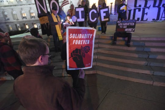 Activists rally for three men held at Bergen county jail on immigration violations