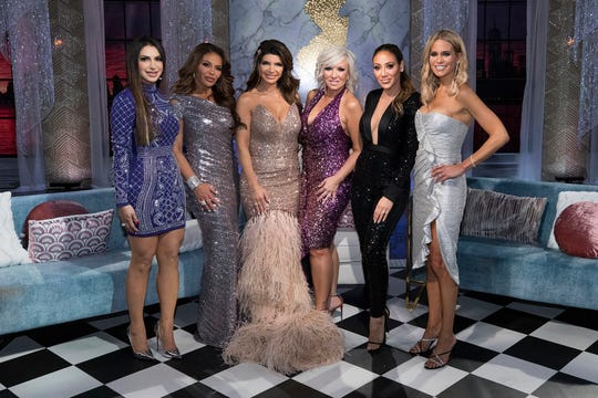 """The Real Housewives of New Jersey"" are (l-r) Jennifer Aydin, Dolores Catania, Teresa Giudice, Margaret Josephs, Melissa Gorga, Jackie Goldschneider."