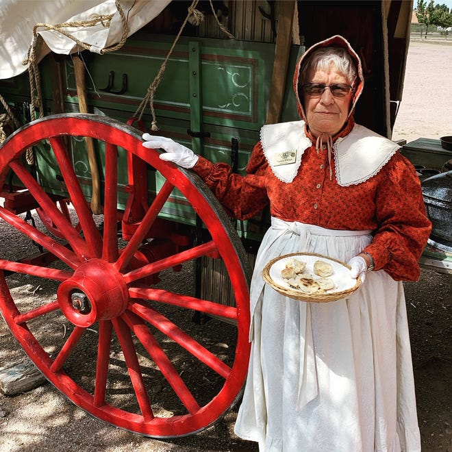 Nancy Clegg, one of the Museum's volunteers, will be among two chuck wagon crews making tasty samples.