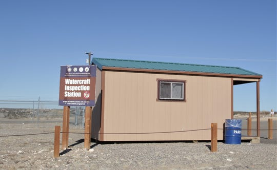 A watercraft inspection station at Lake Farmington