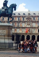 Novi students at Plaza Mayor in Madrid, Spain. A 2020 Spain trip organized by the district has been cancelled due to coronavirus.