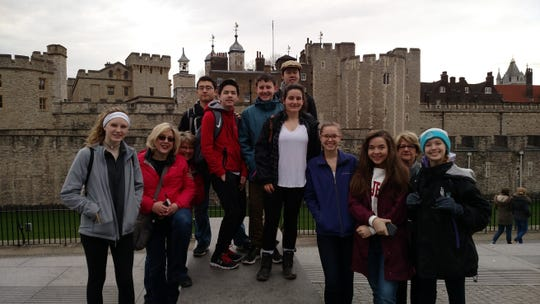 Novi High School students visited London Tower in 2018. A district-organized trip to England and Scotland has been cancelled for spring 2020 due to coronavirus.