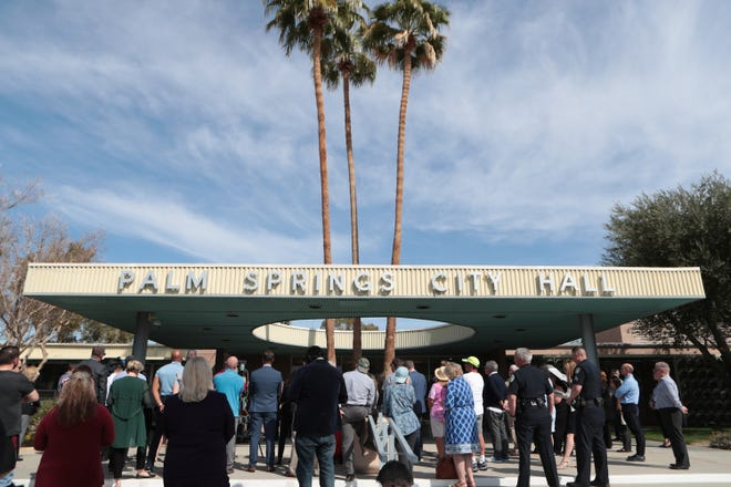City and County officials held a coronavirus briefing at Palm Springs City Hall in Palm Springs, Calif., on Thursday, March 5, 2020.