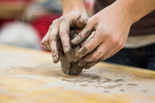 One of the programs offered by CVVICS is Clay and Other Crafts, where arts enthusiast clients learn to create various decorative pieces.