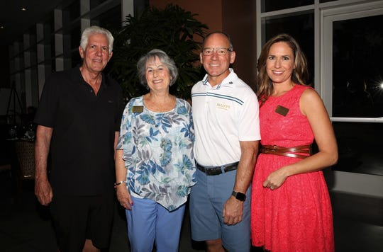 Richard Balocco, president and CEO of Desert Arc, joins event chair & board member Nancy Singer; Jay Chesterton, vice president of hotel and food & beverage at Fantasy Springs Resort Casino, and Brooke Beare, event emcee and Desert Arc board member.