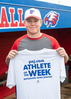 Athlete of the Week - Jason Roberts - Pine Forest pitcher in Pensacola on Thursday, March 5, 2020.