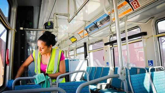 Valley Metro is enhancing its cleaning and disinfecting regimens for its public transportation fleet due to coronavirus, the agency said in a statement Wednesday, March 5, 2020.