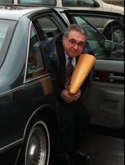 Michael Stevens at his 1995 trial (Staff Photo/Burr Lewis)