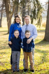 Christy Schultz, Chris Schultz and their sons, Will, 9, and Drew, 7.