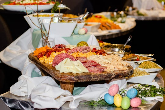 The brunch buffet is extensive at Char Steak & Lounge in the Strathallan Hotel.