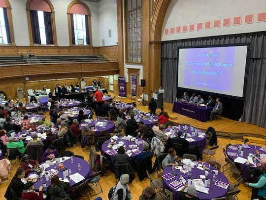 The Rochester & Finger Lakes chapter of the Alzheimer's Association held the ninth annual Dr. Lemuel and Gloria Rogers Health Symposium in Rochester Thursday. The event was attended by more than 250 local caregivers.