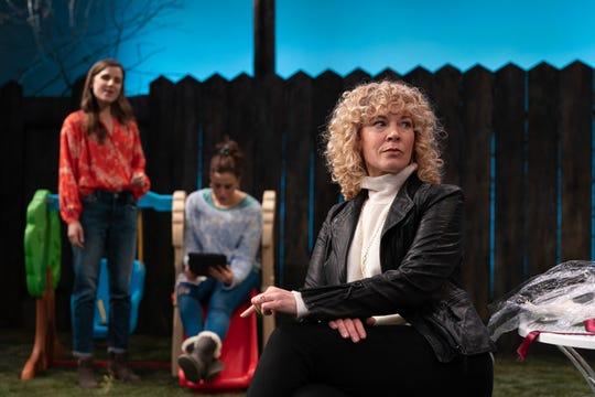 "Mikaela Izquierdo, Melissa Miller and Erica Steinhagen in ""Cry It Out"" at Geva."