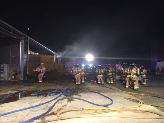More than 40 firefighters battled a fire at a hemp drying facility Tuesday afternoon on Sunnyview and Howell Prairie roads NE inrural Marion County.