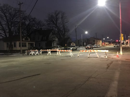 Police blocked off Wilson Avenue between East St. Germain Street and First Avenue SE Wednesday after a man involved in an assault incident died after being tased by officers.