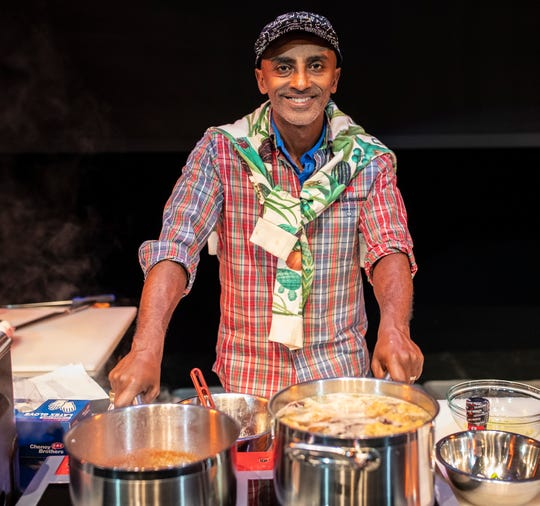 Chef Marcus Samuelsson, a Food Network personality, author, and award-winning chef, poses for a photo.