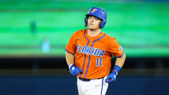 Florida's Nathan Hickey hit a two-run double in the fifth inning Tuesday against Stetson. [File]