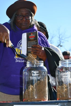 The Soil Collection Ceremony, hosted by the Tallahassee Community Remembrance Project on Feb. 29, encouraged participants to shovel soil collected from the site of two former Leon County jails.