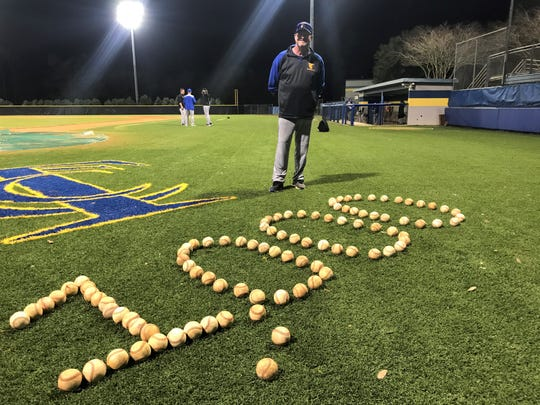 TCC baseball head coach Mike McLeod earned the 1,000th win of his career following a 15-4 rout in seven innings over Thomas University on Wednesday, March 4, 2020.