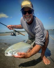 Rick Parker caught this pompano Wednesday in the Indian River Lagoon while fishing with live shrimp.